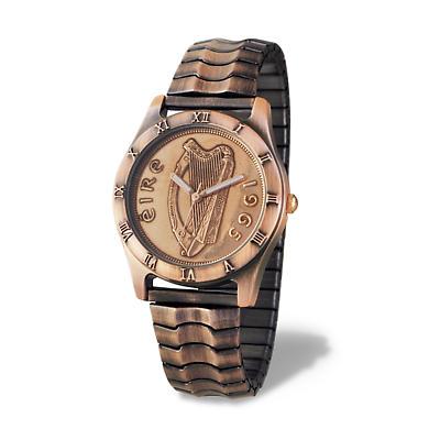 Irish Penny Watch - Copper Flex Band