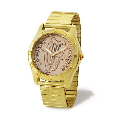 Irish Penny Watch - Gold Flex Band