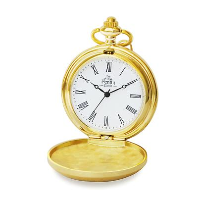 Irish Penny Pocket Watch - Gold Plated