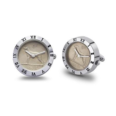 Irish Penny Watch - Irish Sixpenny Mens Cufflinks Watch
