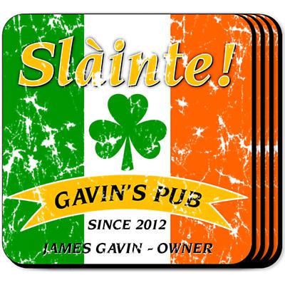 Personalized Irish Coaster Set - Pride of the Irish