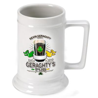 Personalized 16 oz. Irish Beer Stein - Irish Pub