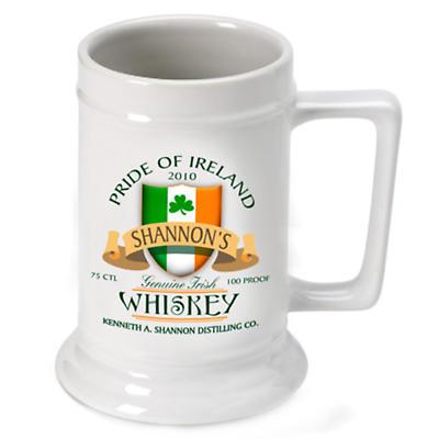 Personalized 16 oz. Irish Beer Stein - Irish Whiskey