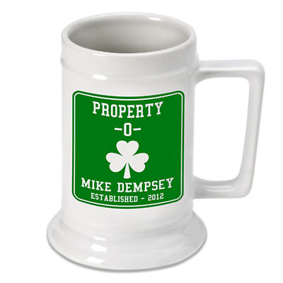 Personalized 16 oz. Irish Beer Stein - Property O
