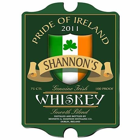 Personalized Vintage Irish Whiskey Pub Sign