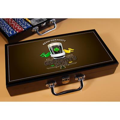 Personalized Poker Set - Irish Pub