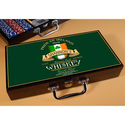 Personalized Poker Set - Irish Whisky