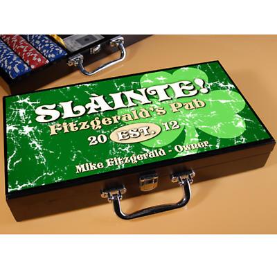Personalized Poker Set - Jolly Green Shamrock