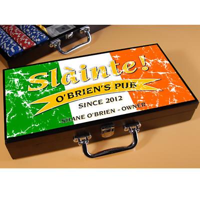 Personalized Poker Set - Pride of the Irish