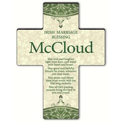 Personalized Classic Irish Cross - Old Irish Blessing 1