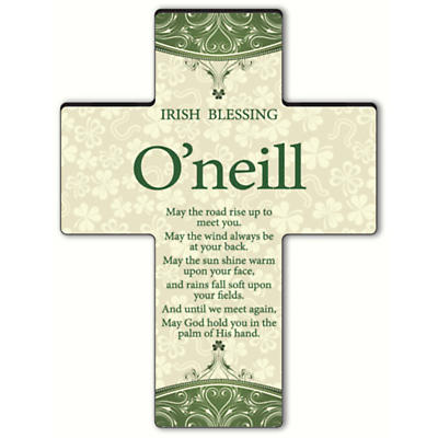 Personalized Classic Irish Cross - Old Irish Blessing 2