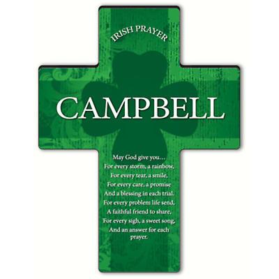 Personalized Irish Blessing Shamrock Cross - An Irish Prayer