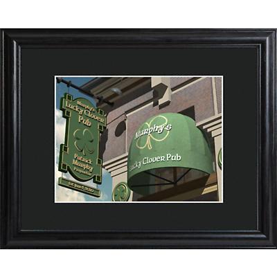 Personalized Lucky shamrock Pub Print