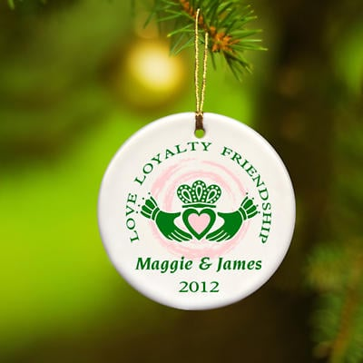 Irish Christmas - Personalized Irish Ornaments - Claddagh Ornament