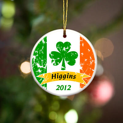 Irish Christmas - Personalized Irish Ornaments - Irish Pride Ornament