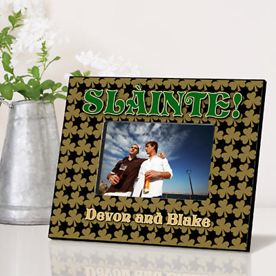 Personalized Irish Picture Frames - Field of Shamrocks