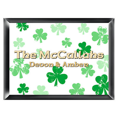 Personalized Raining Shamrocks Family Sign