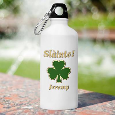 Personalized Irish Water Bottle - Classic shamrock