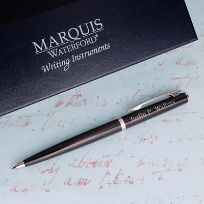 Personalized Waterford® Ardmore Ballpoint Pens - Black
