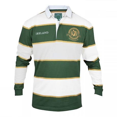 Croker Green and White Striped Rugby Jersey