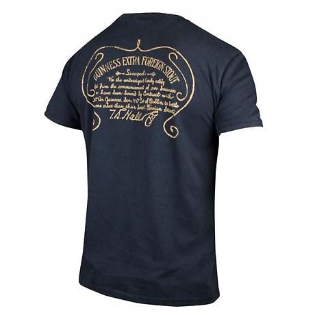 Guinness Black & Gold Vintage Label T-Shirt