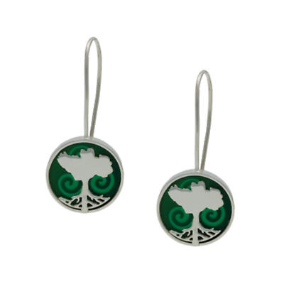 Irish Earrings - Sterling Silver Growing Home Earrings - Green Land