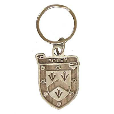 Personalized Irish Coat of Arms Key Ring