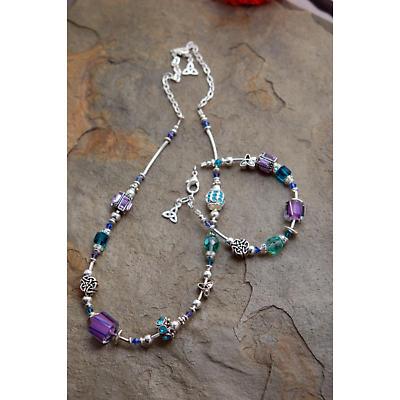 Celtic Necklace - Purple & Teal