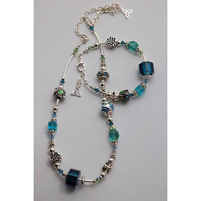 Celtic Necklace - Teal & Aqua