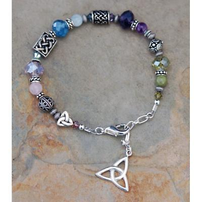 Celtic Bracelet - Four Guardian Bracelet with Trinity Knot