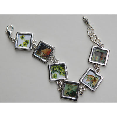 Irish Bracelet - Scenes Of Ireland Six Link Bracelet
