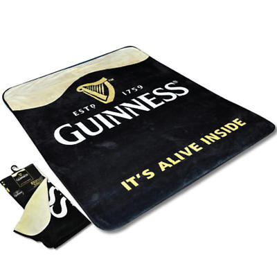 "Guinness ""It's Alive Inside"" Raschel Throw"