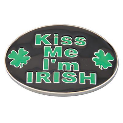 Kiss Me I'm Irish Belt Buckle