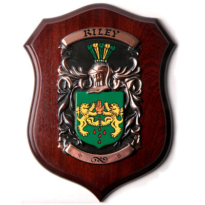 Personalized Deluxe Single Family Crest Plaque