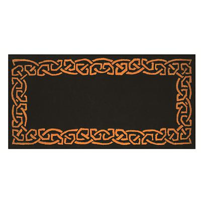 "Celtic Rug - ""Eternity"" Wool Rug - Black"