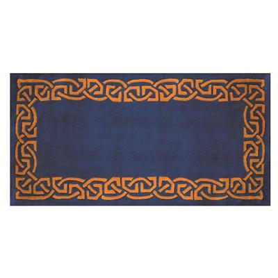 "Celtic Rug - ""Eternity"" Wool Rug - Blue"