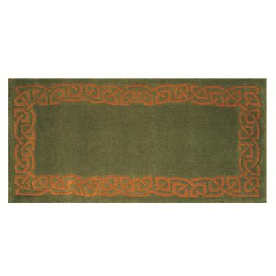 "Celtic Rug - ""Eternity"" Wool Rug - Green"