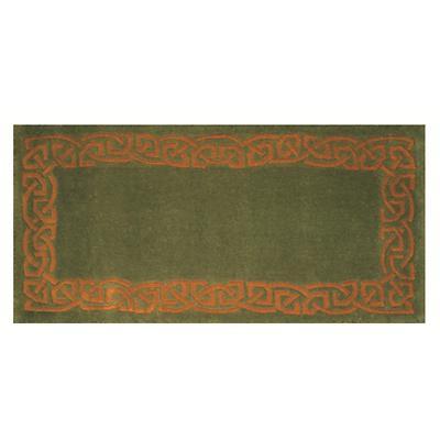 """Celtic Rug - """"Eternity"""" Wool Rug - Green"""