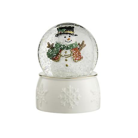 Irish Christmas - Belleek Snowman Snowglobe