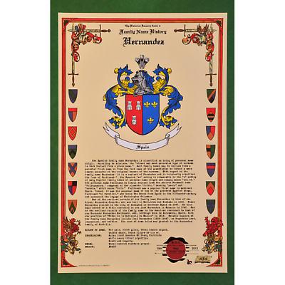 Personalized Irish Coat of Arms Celebration Scroll - Unframed