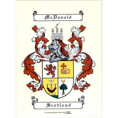 Personalized Irish Coat of Arms Scroll - Unframed