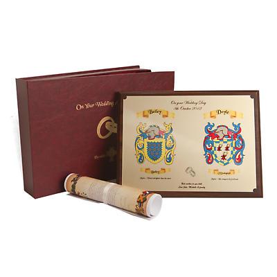 Coat of Arms Heraldic Wedding Gift Set