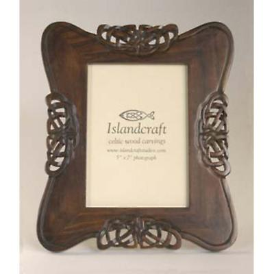 Celtic Carved Wood 5 x 7 Picture Frame