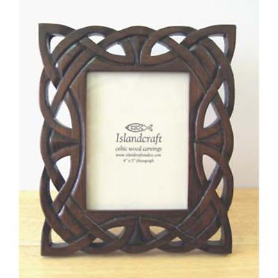Celtic Carved Wood 4 x 5 Picture Frame