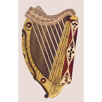 Irish Harp Carved Wood Wall Plaque