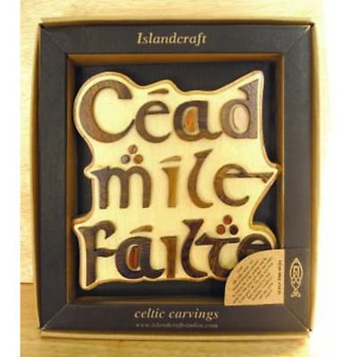 Cead Mile Failte Irish Welcome Wood Carving