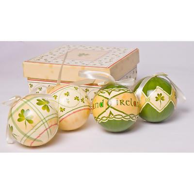 Irish Christmas - Irish Christmas Bauble Ornaments - Set of 4