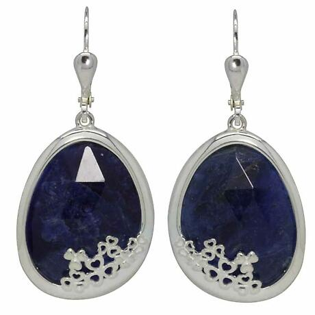 Shamrock Earrings - Blue Sodalite