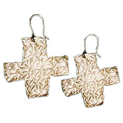 Celtic Earrings - Handcrafted Sterling Silver Celtic Cross Irish Earrings