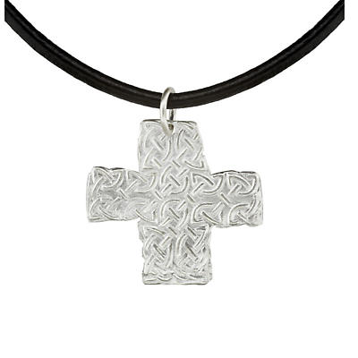 Celtic Pendant - Handcrafted Sterling Silver Celtic Cross Irish Necklace